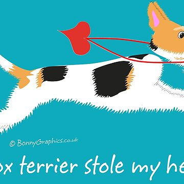 """""""A fox terrier stole my heart!"""" (wire haired fox terrier) by BonnyGraphics"""