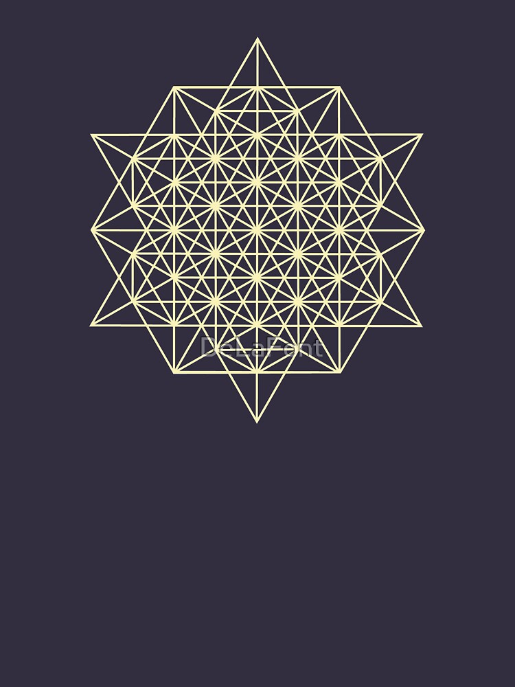 64 Tetrahedrons 2D Sacred Geometry  by DeLaFont