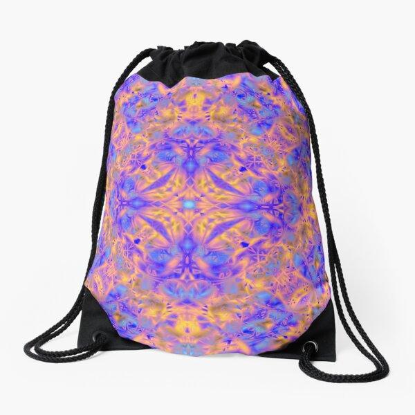 197. Blossom Golden-Sea Cross Drawstring Bag