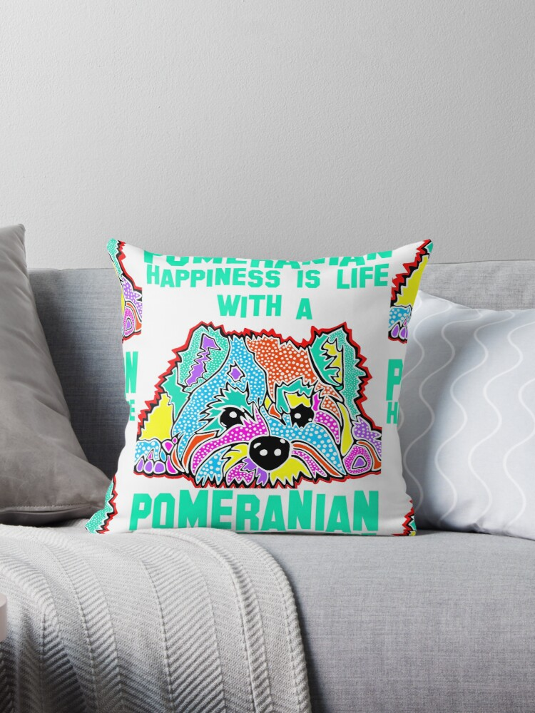 Pomeranian Terrier Family Fun Colorful Happiness Is Life With A