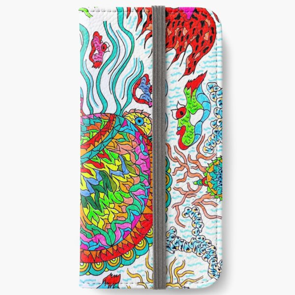 Supersonic Psychedelic Squid  iPhone Wallet