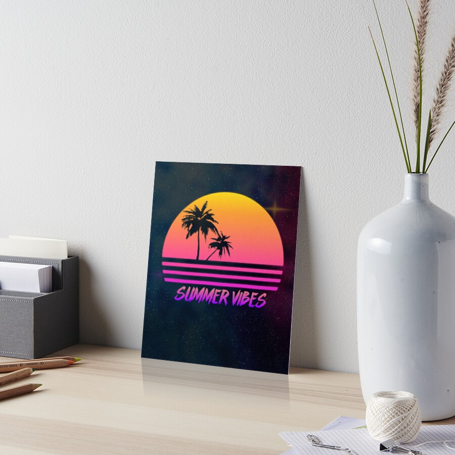 3abc03b59bec Summer Vibes - Retro Synth Sunset Style