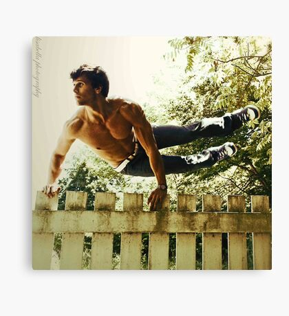 Fence Hopping Canvas Print