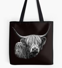 Highland Cow Portrait Tote Bag