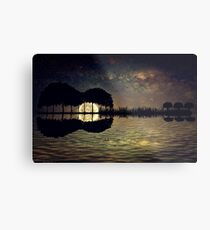 guitar island moonlight Metal Print