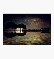 guitar island moonlight Photographic Print