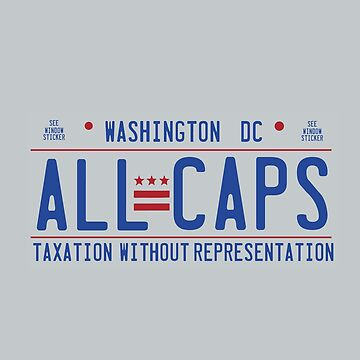 Washington Capitals - DC License Plate - ALL CAPS by mymainmandeebo