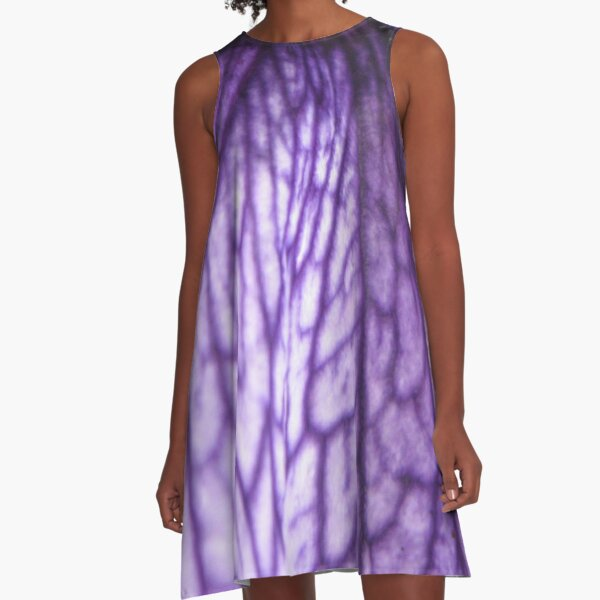 Purple Veinity Dress A-Line Dress
