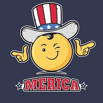 Uncle Sam Smiley Emoticon Merica by zoljo