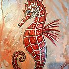 Seahorse In Coppers by GalleryBarbas