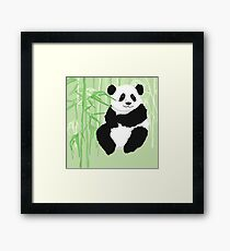 Green panda Framed Print