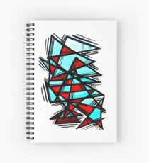 Blood and ice Spiral Notebook