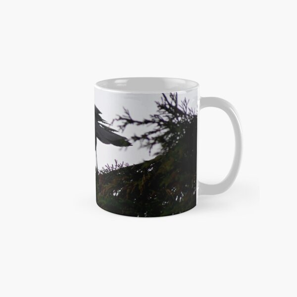 Jackdaw, watching from the branch Classic Mug