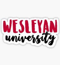 Wesleyan University Sticker