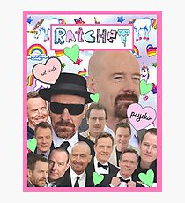 Bryan Cranston Celebrity Collage Photographic Print
