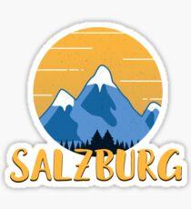 Salzburg Hiking Mountains Sticker