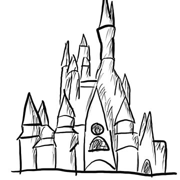 sketch castle  by Debo05