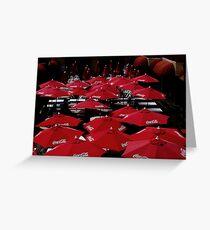 Red  Umbrella's    Greeting Card