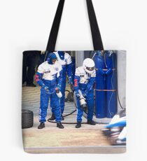 Pit stop for the Peugeot 908 HDI Tote Bag