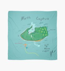 North Captiva Map Print Scarf