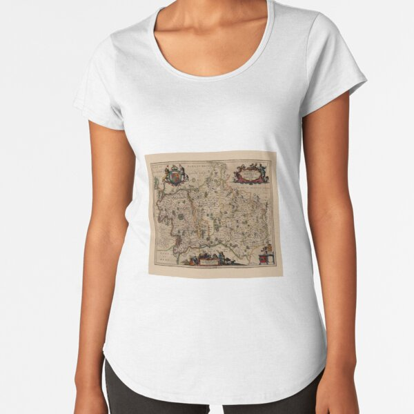Map Of Middlesex 1646 Premium Scoop T-Shirt