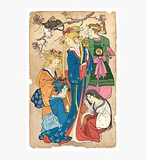 Sailor Moon Ukiyo E Photographic Print