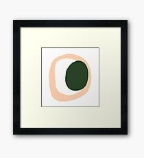 Olive Peach Pit Framed Print
