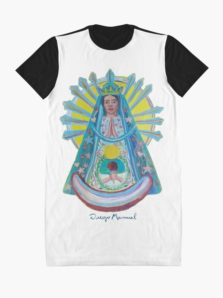Alternate view of Virgin of Lujan 1 C Graphic T-Shirt Dress