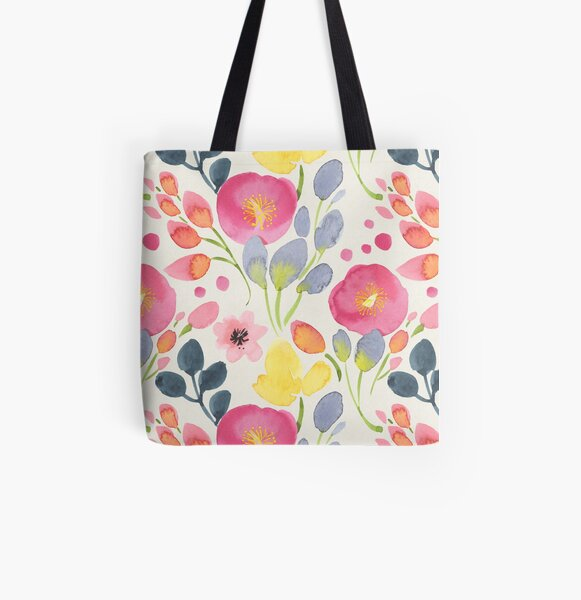 Summer Poppies All Over Print Tote Bag