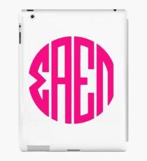Sigma Alpha Epsilon Pi Monogram (Pink) iPad Case/Skin