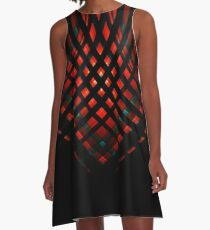 Behind Bars - Red A-Line Dress