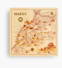 Map Of Morocco 1950 Metal Print