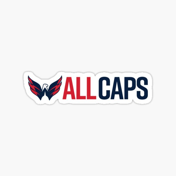 Washington Capitals All Caps Sticker