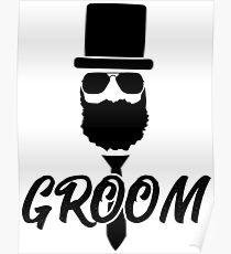Groom Bachelor Party Design Shirt Poster