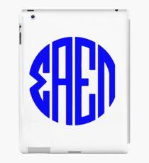 Sigma Alpha Epsilon Pi Monogram (Blue) iPad Case/Skin