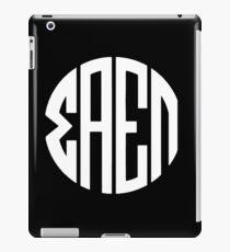 Sigma Alpha Epsilon Pi Monogram (white) iPad Case/Skin