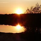 Sunset on McBride Lake,Sask,Canada by MaeBelle