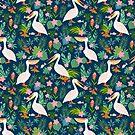 Floral Pelican by BekkaCampbell