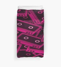 Pink Tapes Pattern Duvet Cover