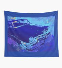 1951 Cadillac Pop Blue Wall Tapestry