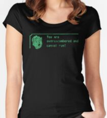 You are over-encumbered and cannot run Women's Fitted Scoop T-Shirt