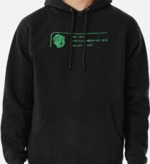 You are over-encumbered and cannot run Pullover Hoodie