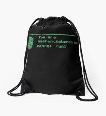 You are over-encumbered and cannot run Drawstring Bag