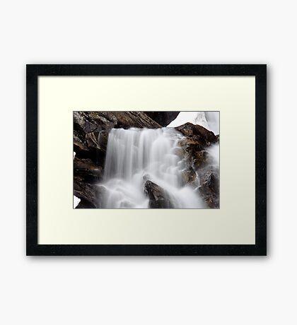 Hidden Falls - Teton National Park - Detail Framed Print