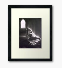 A Seizure Of Life; charcoal and chalk Framed Print