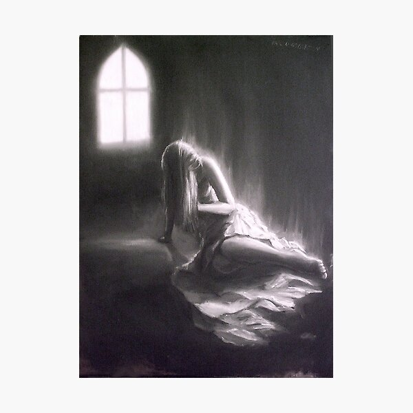 A Seizure Of Life; charcoal and chalk Photographic Print