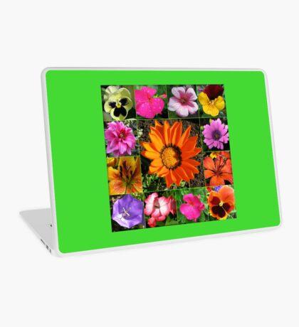 Sunlit Sommer Blumen Collage Laptop Skin
