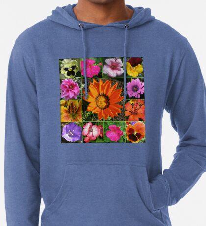 Sunlit Sommer Blumen Collage Leichter Hoodie