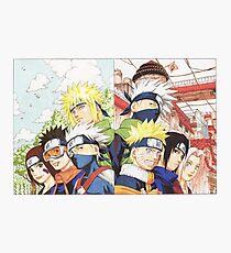 Naruto Sasuke Kakashi Obito Konoha Photographic Print