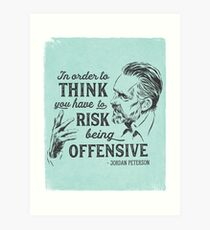 Jordan Peterson Illustration and Quote Art Print